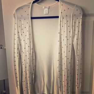 Cache ivory and gold stud sweater. Size XS